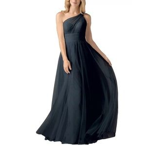 Waters Wtoo 858 Black Bridesmaid Dress sz 0